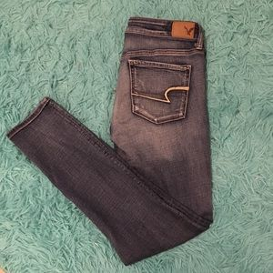 American Eagle Super Stretch Skinny Jeans 8 Long